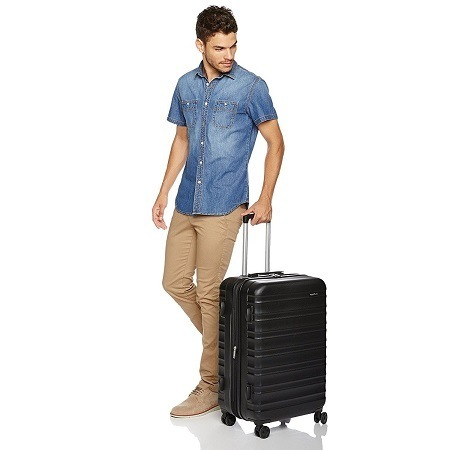 Man Holding Luggage Set