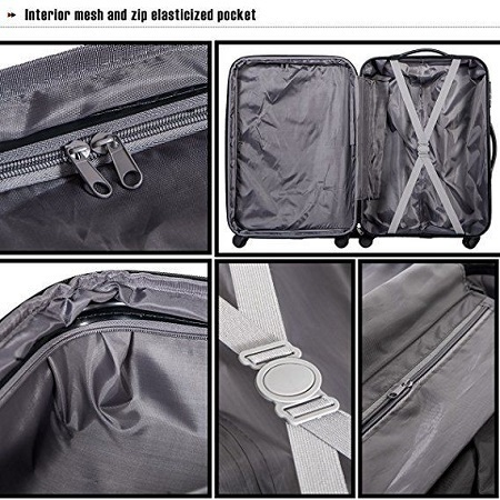 Merax Travelhouse Luggage Set Pockets