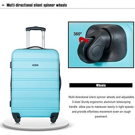 Merax Travelhouse Luggage Set Wheels