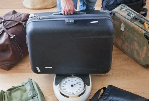 Luggage On Weight Scale
